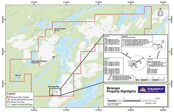 Figure 1: Belanger Property Overview Map